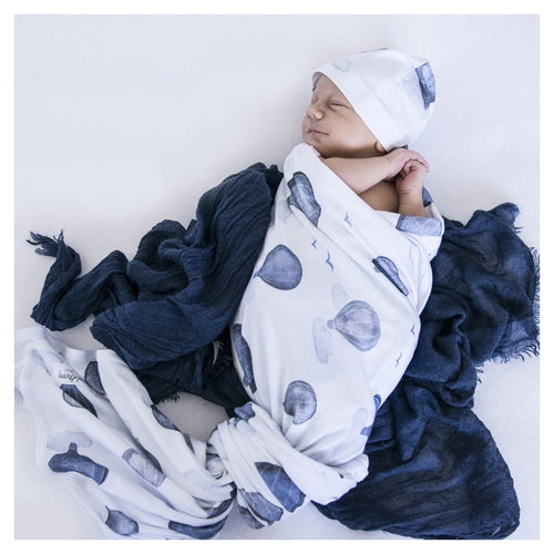 Snuggle Hunny Kids Stretch Cotton Baby Wrap Set Cloud Chaser
