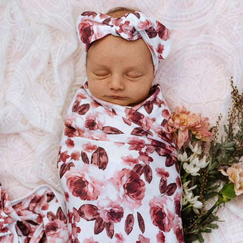 Snuggle Hunny Kids Stretch Cotton Baby Wrap Set Fleur