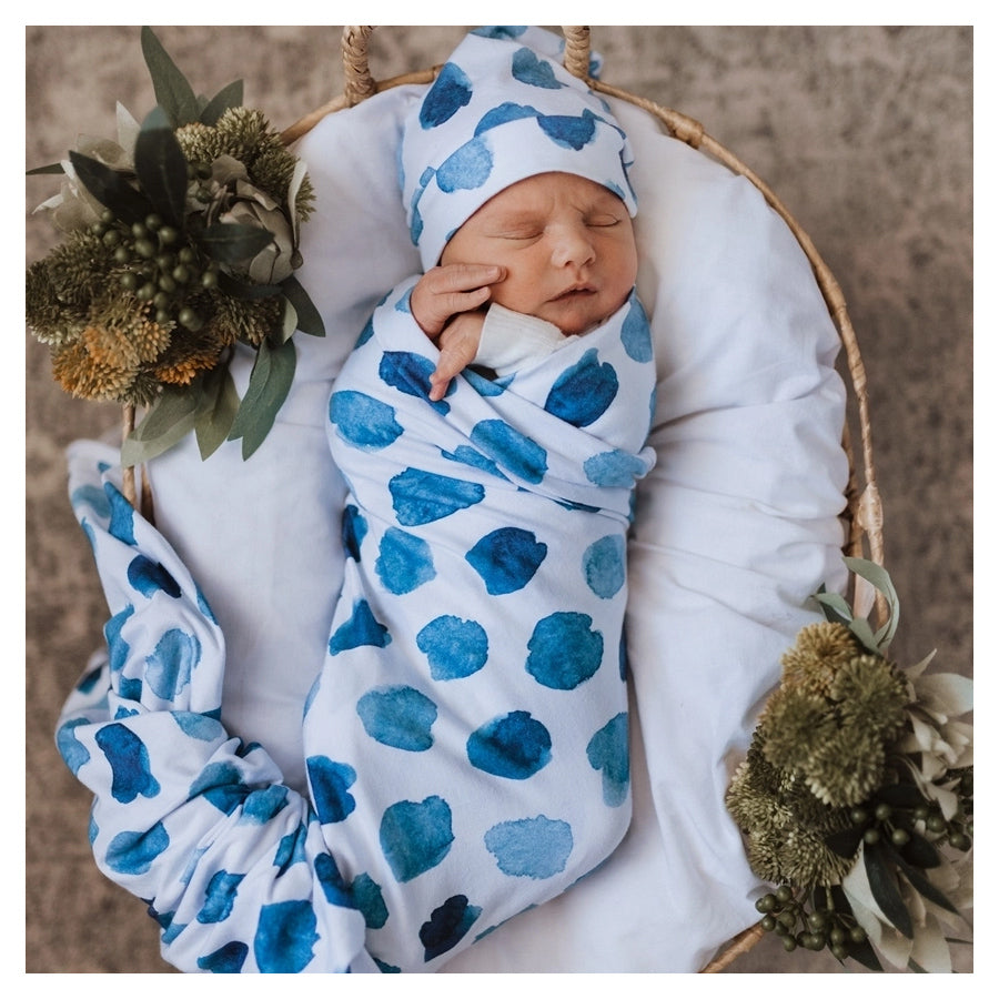 Snuggle Hunny Kids Stretch Cotton Baby Wrap Set Ocean Skies