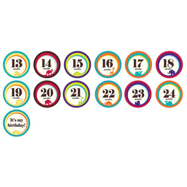 Sticky Bellies Milestone Stickers 13-24 Months
