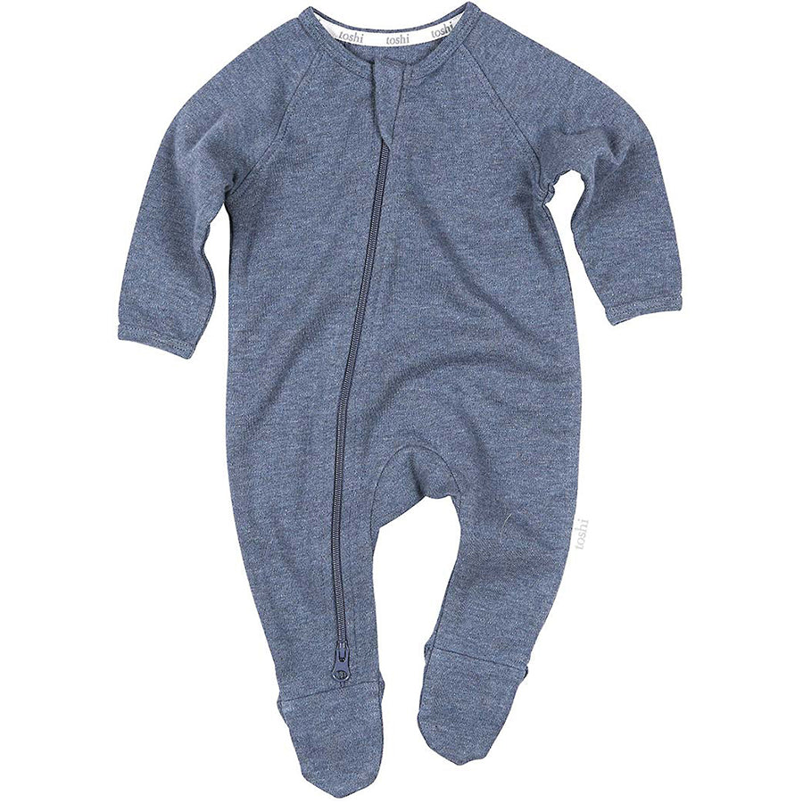 Toshi Organic Onesie Long Sleeve Moonlight
