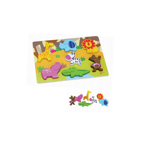 Wild Animal Wooden 3D Puzzle