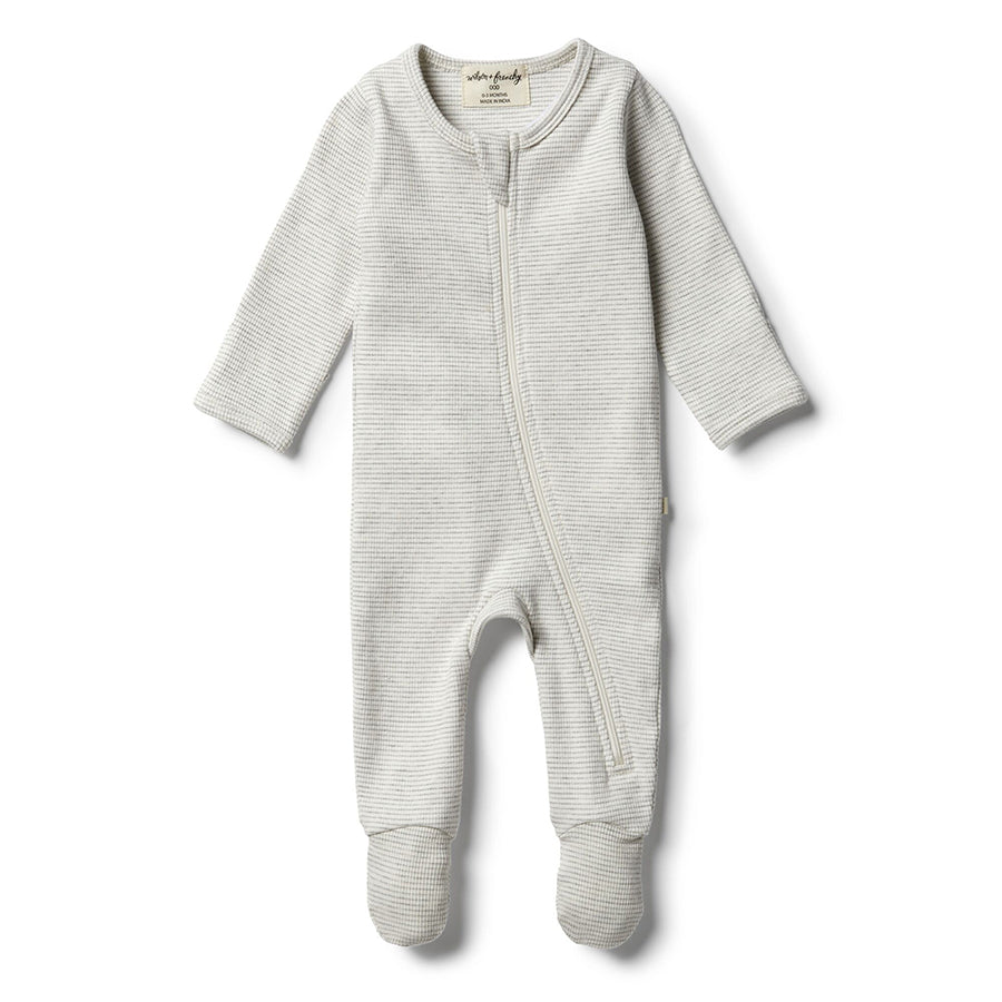 Wilson & Frenchy Organic Cloud Grey Zipsuit