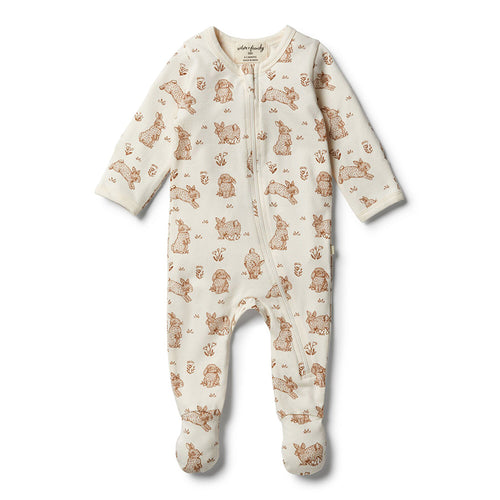 Wilson & Frenchy Organic Little Hop Zipsuit