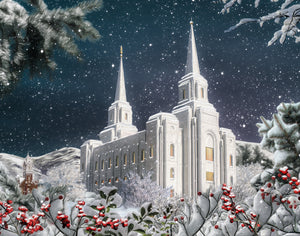 Brigham City Utah Temple Winter