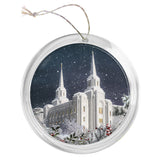 """Brigham City Temple"" Tree Ornament"