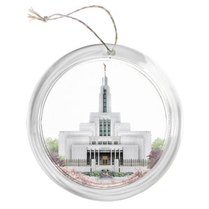 """Draper Temple - Celestial Series"" Tree Ornament"