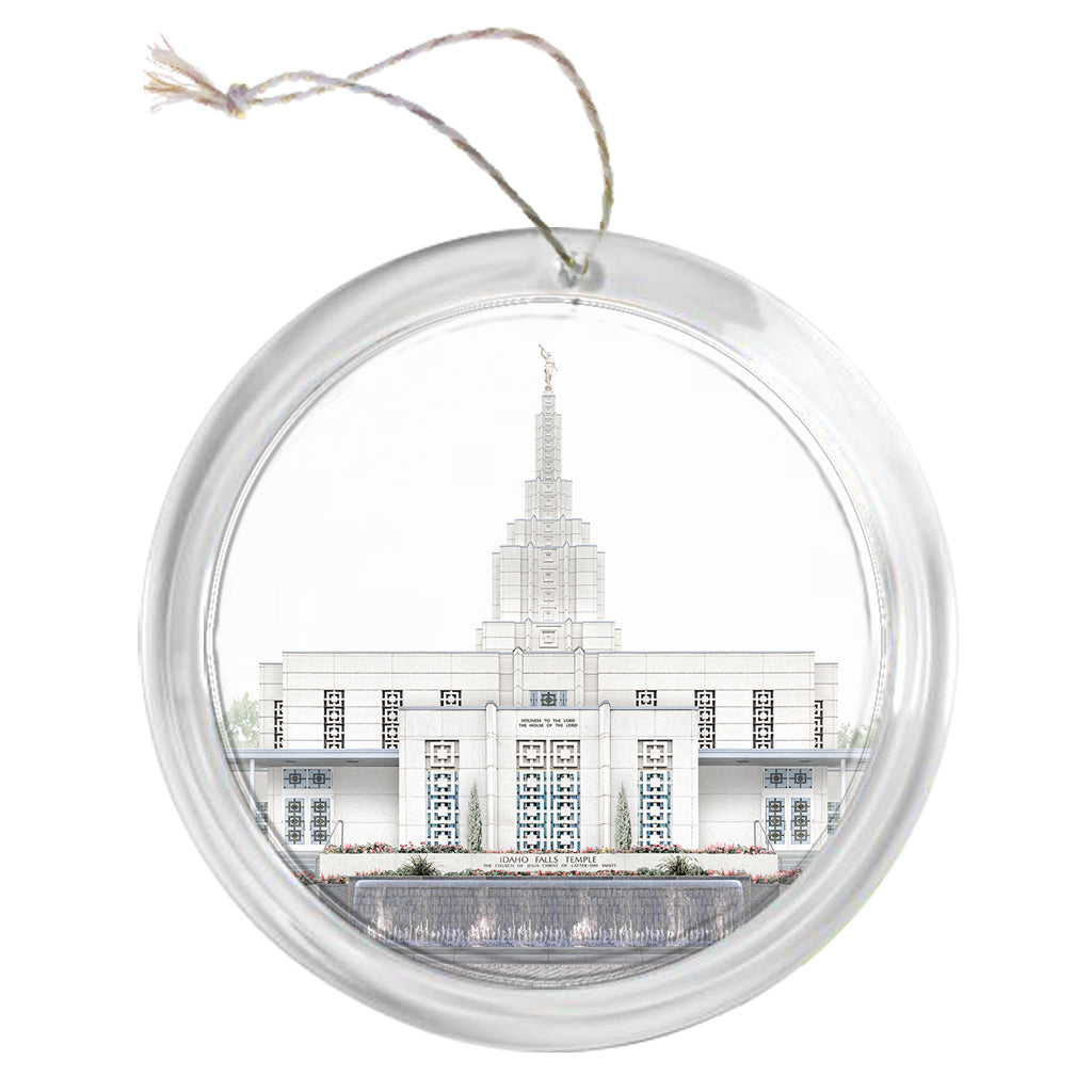 """Idaho Falls Temple - Celestial Series"" Tree Ornament"