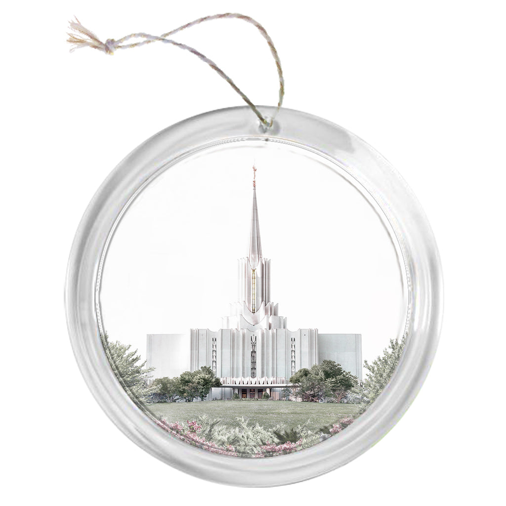 """Jordan River Temple - Celestial Series"" Tree Ornament"