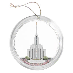 """Oquirrh Mountain Temple - Celestial Series"" Tree Ornament"