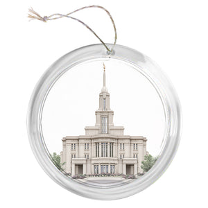"""Payson Temple - Celestial Series"" Tree Ornament"