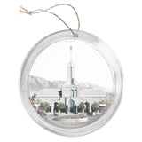 """Mount Timpanogos Temple - Celestial Series"" Tree Ornament"