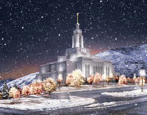 Draper Utah Temple - First Snowfall