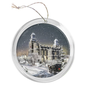 """Logan Temple - Old Time Christmas"" Tree Ornament"