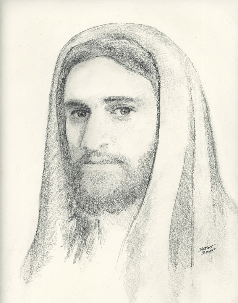 Jesus Portrait - Original Pencil Sketch