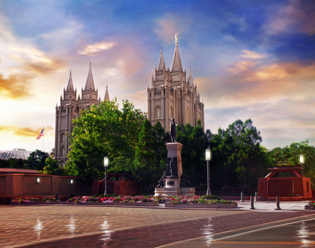 Salt Lake Temple - After the Storm