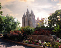 Salt Lake Temple- 20x24 Pre-stretched canvas - Clearance