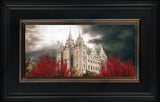 Salt Lake Temple - A Light in the Storm