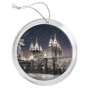 """Salt Lake Temple - Silent Night"" Tree Ornament"