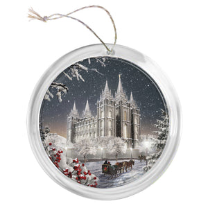"""Salt Lake Temple - Old Time Christmas"" Tree Ornament"
