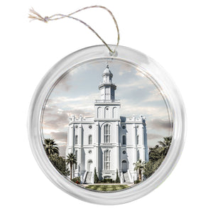 """St. George Temple"" Tree Ornament"