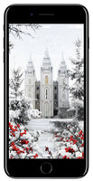 Salt Lake Temple- Winter Wonderland- Phone Screen Digital Image