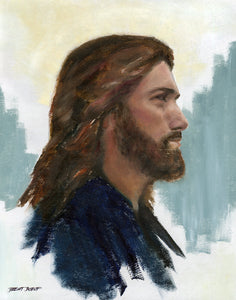 Jesus in Profile - Original Oil Painting
