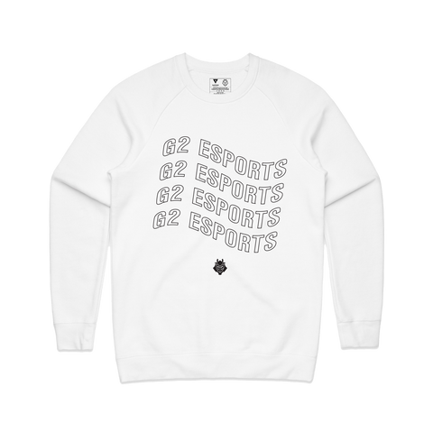 G2 Wavy Crewneck - White - G2 Esports Official Shop