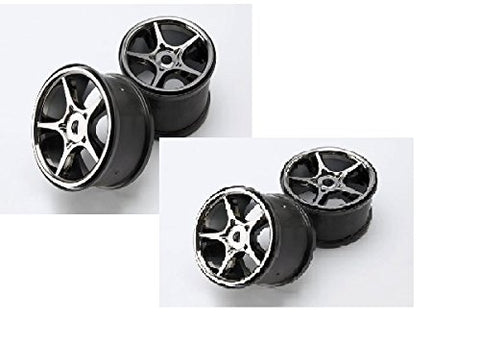 Traxxas E-Revo Wheels, Set of 4 , Gemini 3.8' (black chrome) 5372X