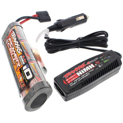 Traxxas Stampede 2WD VXL 3000 mAh NiMH 8.4V 7-C HUMP iD BATTERY & 4 AMP CHARGER