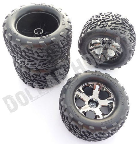Traxxas Stampede 2wd XL-5 * 4 TALON TIRES & ALL STAR WHEELS * 12mm Hex VXL Rims