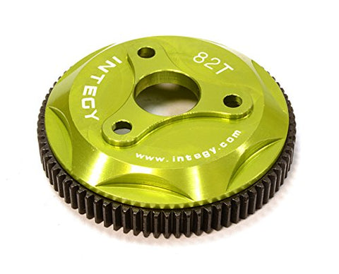 Integy RC Model Hop-ups T8028GREEN 82T Metal Spur Gear for Traxxas 1/10 Electric Stampede 2WD Rustler 2WD Slash 2WD