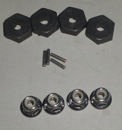 Traxxas Summit 1/16 Scale 12MM Hex Hub, Pins and Wheel Nuts