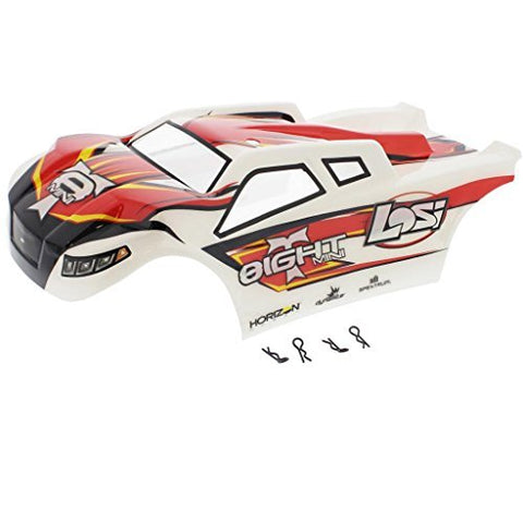 Losi 1/14 Mini 8ight-T Truggy RED, WHITE & BLACK BODY, DECALS & CLIPS Shell by Team Losi