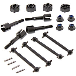 HPI 1/10 RS4 Sport 3 Drift FRONT & REAR DRIVE SHAFTS, AXLES & WHEEL HEX NUTS by HPI Racing