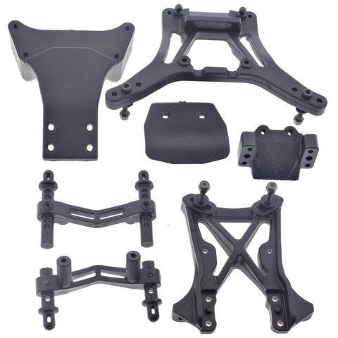 HPI 1/10 Firestorm Nitro SHOCK TOWERS, BODY POST MOUNTS, BULKHEAD & SKID PLATE