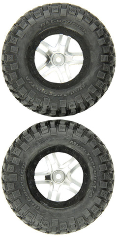 Traxxas 6873X Wheels Assembled Beadlock Tires, Black, Set of 2