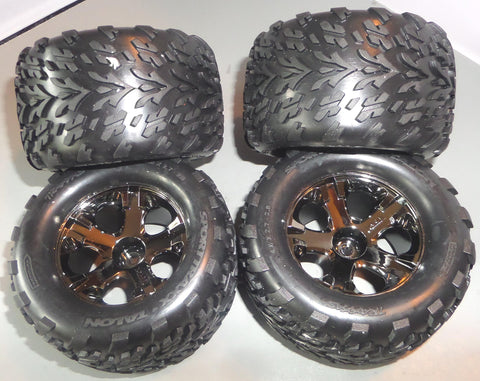 Traxxas Stampede 4X4 VXL Tries and Wheels Set of (4)