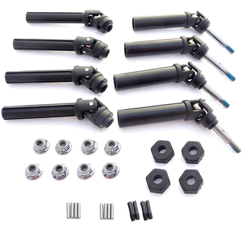 Traxxas Telluride 4x4 XL-5FRONT & REAR DRIVE SHAFTS, WHEEL HEXES & NUTS 12mm