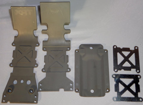 Traxxas Tmaxx 3.3   Skid Plates Front, Middle, and Rear with Braces