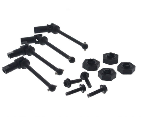 Traxxas LaTrax 1/18 SST Slash FRONT & REAR DRIVE SHAFTS & 12mm HEX HUBS axle