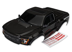 TRAXXAS FORD RAPTOR BRAND NEW BODY WITH FRONT GRILL AND SIDE VIEW MIRRORS AND DECALS. GREAT PACKAGE
