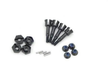 HPI RACING SPRINT 2 WHEEL AXLES PINS LUG NUTS HEX HUBS SET OF FOUR 86001 85003