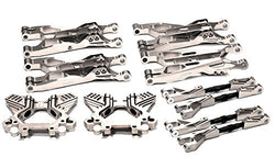Integy RC Model Hop-ups T6714SILVER Billet Machined T2 Suspension Set for Savage Flux, X 4.6 2011 & Savage XL