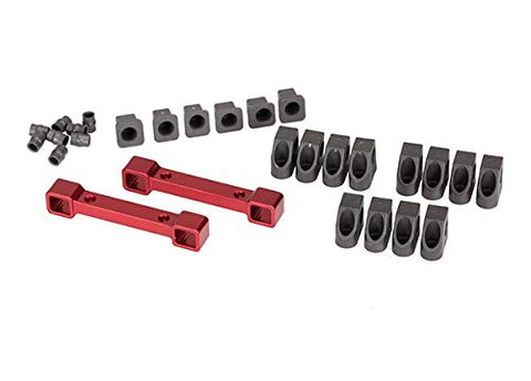 Traxxas TRA8334R Mounts, suspension arms, aluminum (red-anodized)