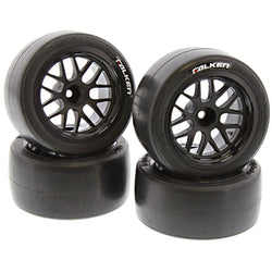 HPI 1/10 RS4 Sport 3 Flux 4 FALKEN AZENIS SLICK TIRES & BBS SPOKE WHEELS 12mm