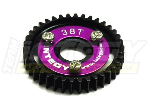 Integy RC Model Hop-ups T3180 38T Steel Spur Gear for 1/10 Revo & Slayer (Both)