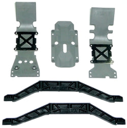 Traxxas E-Maxx Brushed * FRONT, REAR & TRANSMISSION SKID PLATES & CHASSIS BRACE*