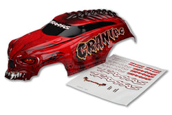 Traxxas 3634R Body Red Heavy Duty w/Decals Craniac, 3634R