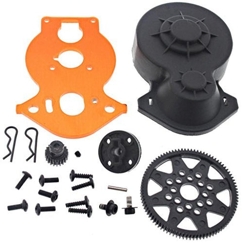 HPI 1/10 Crawler King 91T SPUR & 21T PINION GEAR, MOTOR PLATE & GEAR BOX COVER by HPI Racing